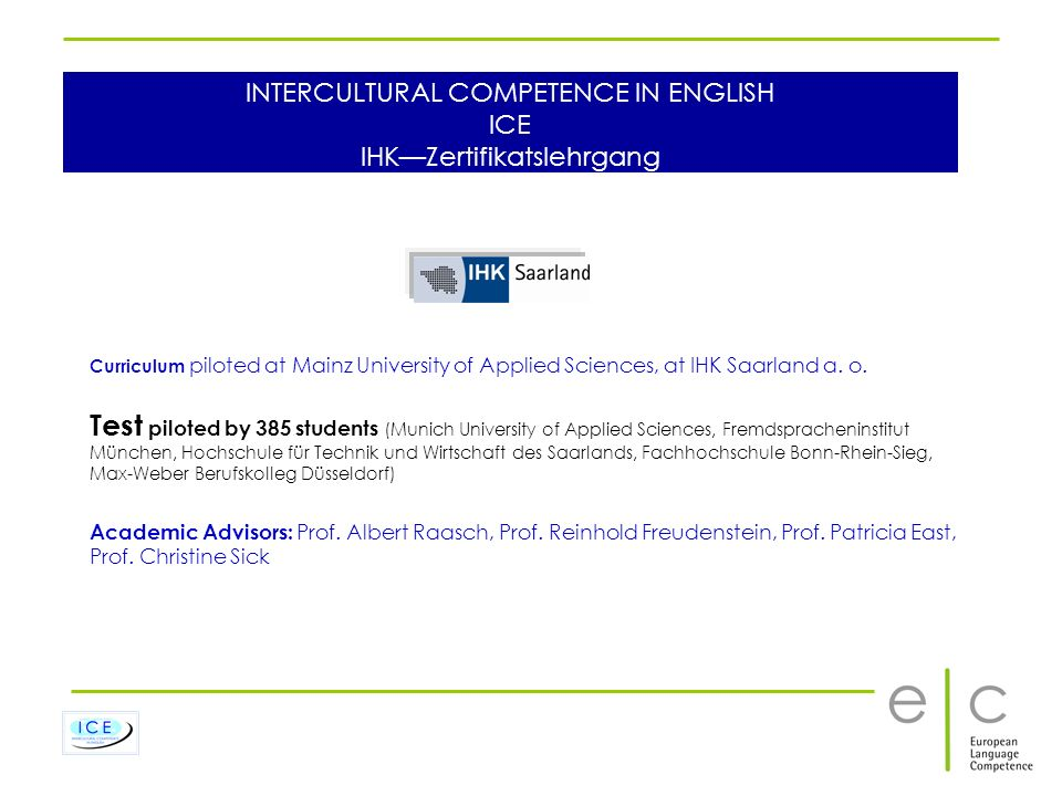 INTERCULTURAL COMPETENCE IN ENGLISH