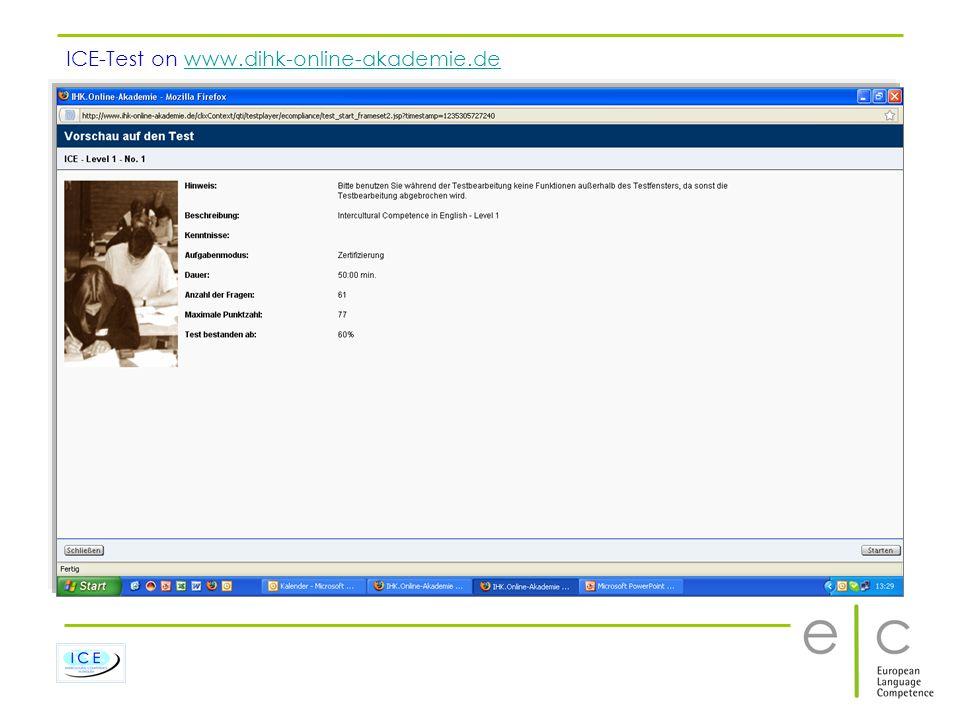 ICE-Test on www.dihk-online-akademie.de