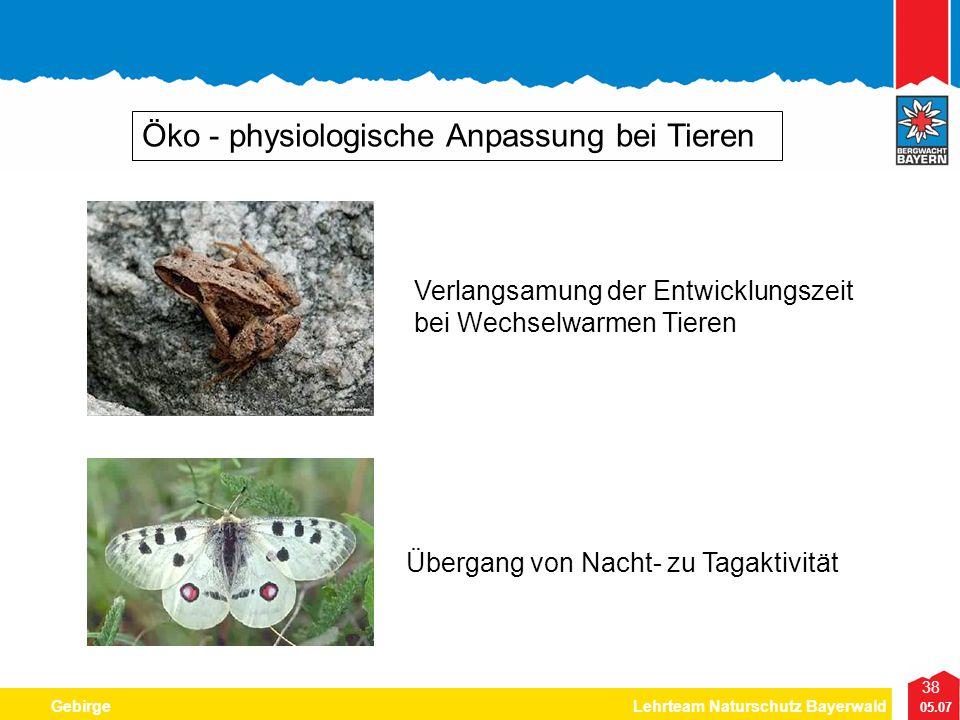 Öko - physiologische Anpassung bei Tieren