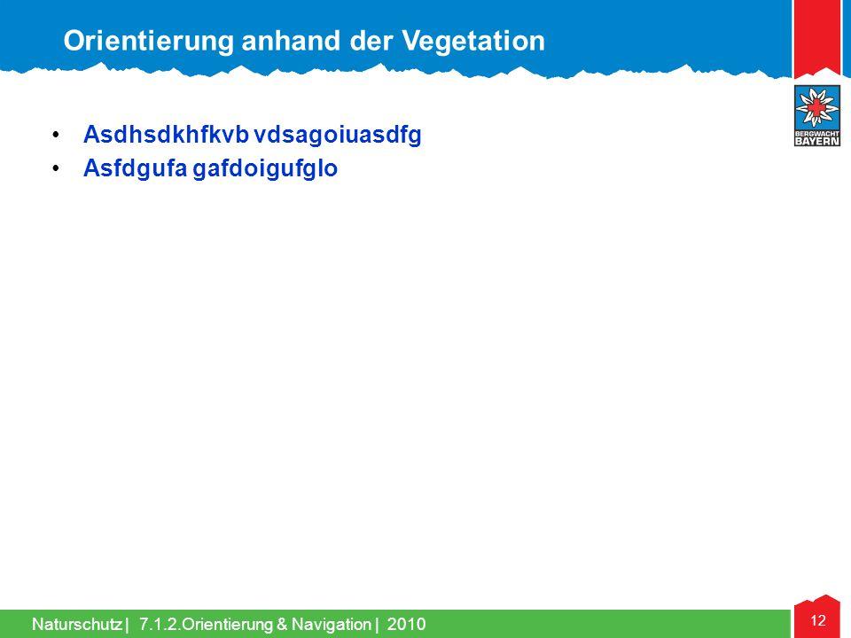 Orientierung anhand der Vegetation