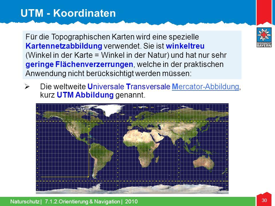 UTM - Koordinaten