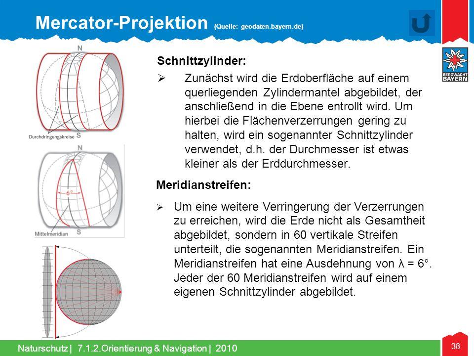 Mercator-Projektion (Quelle: geodaten.bayern.de)