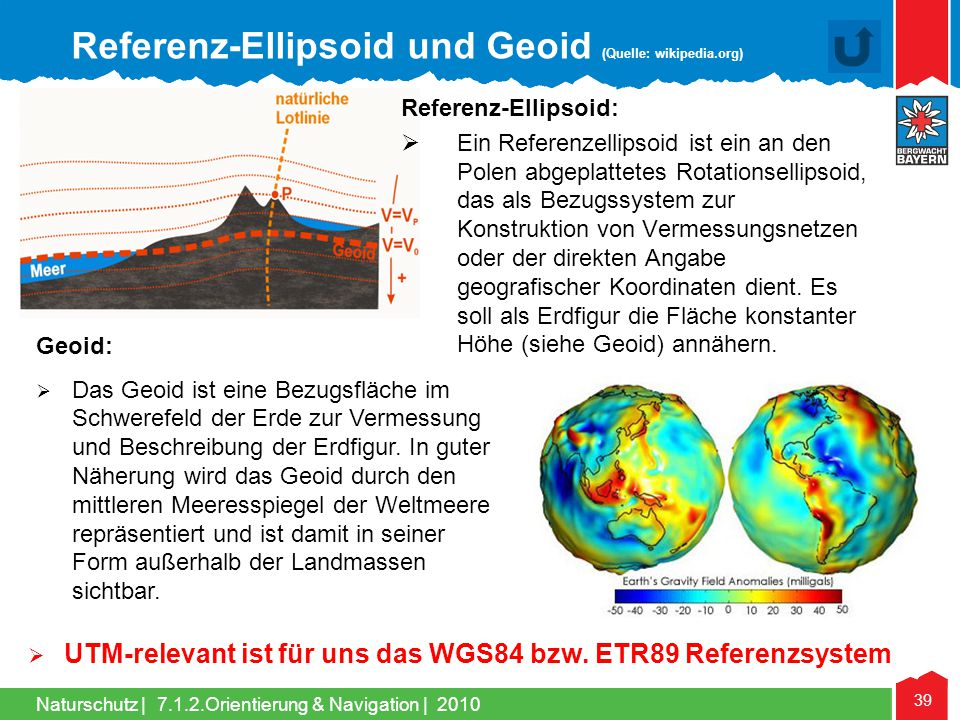 Referenz-Ellipsoid und Geoid (Quelle: wikipedia.org)