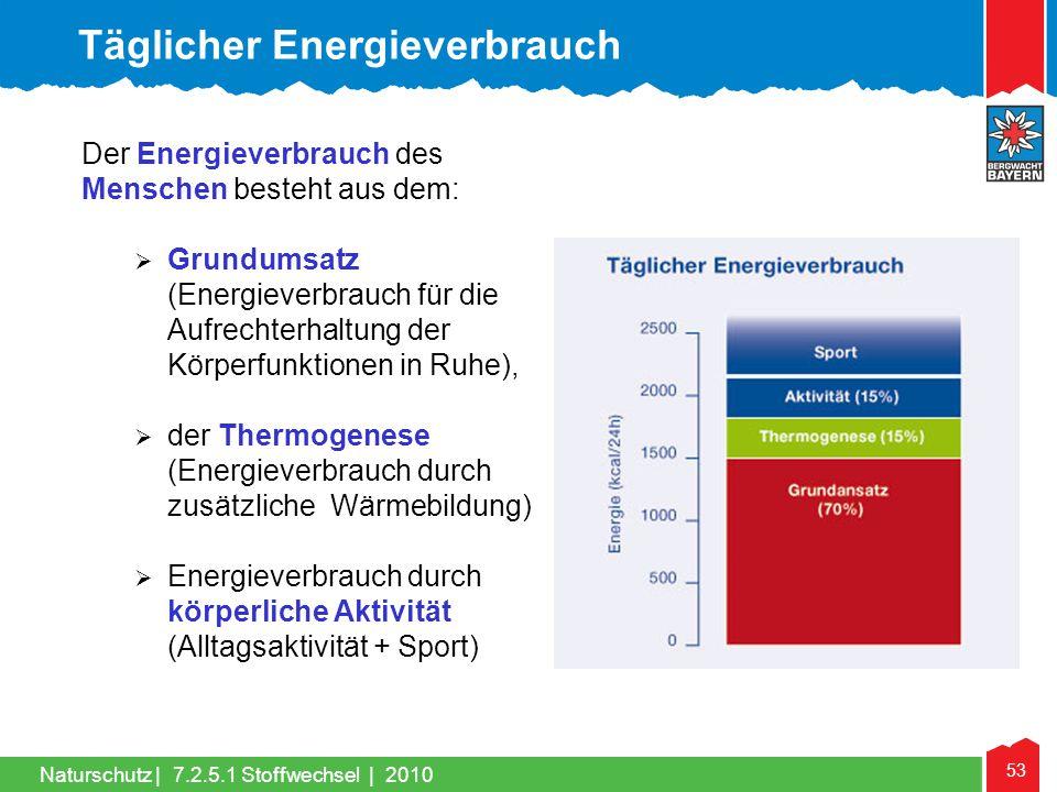 Täglicher Energieverbrauch