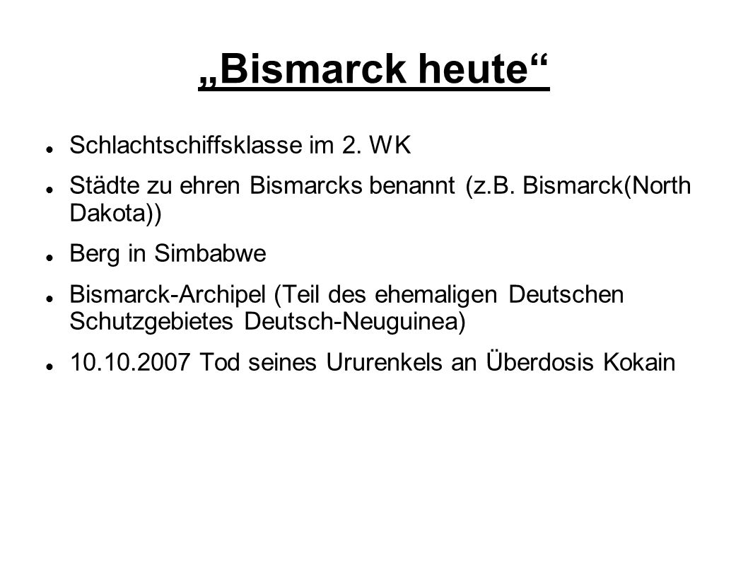 """""""Bismarck heute Schlachtschiffsklasse im 2. WK"""