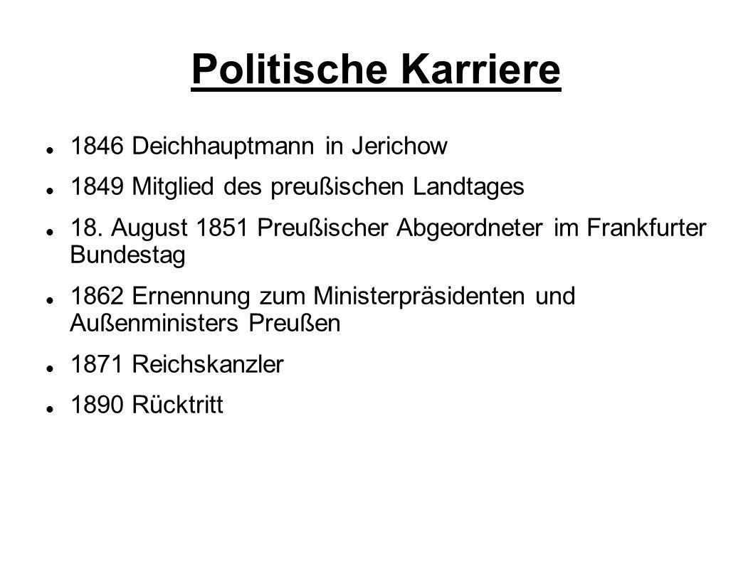 Politische Karriere 1846 Deichhauptmann in Jerichow