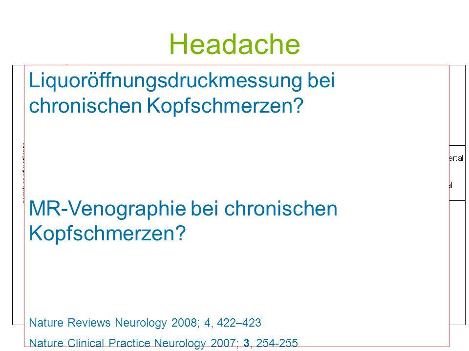 Headache Liquoröffnungsdruckmessung bei chronischen Kopfschmerzen