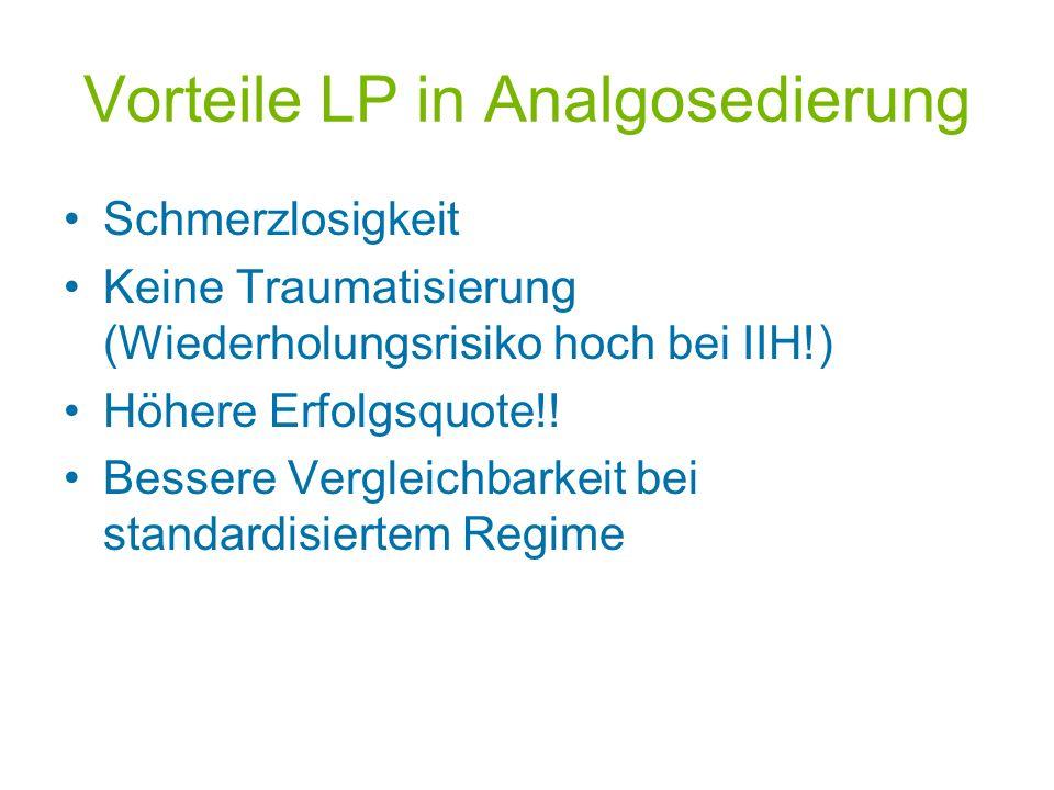 Vorteile LP in Analgosedierung