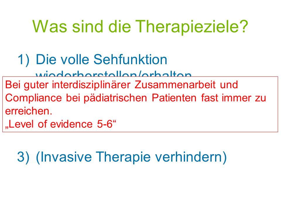 Was sind die Therapieziele