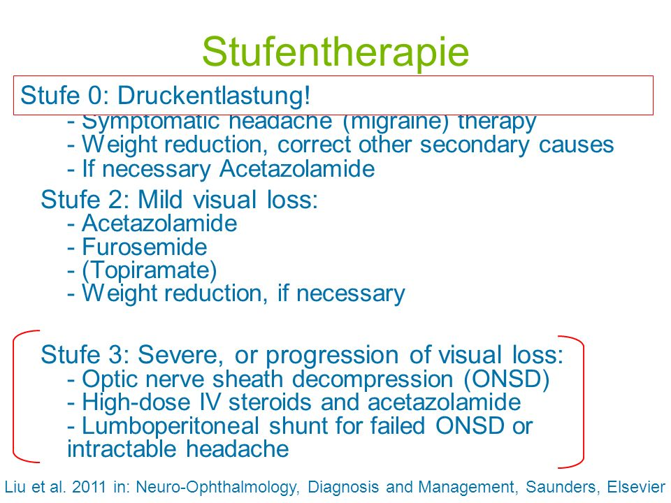 Stufentherapie Stufe 0: Druckentlastung!