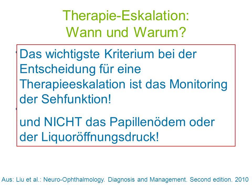 Therapie-Eskalation: Wann und Warum