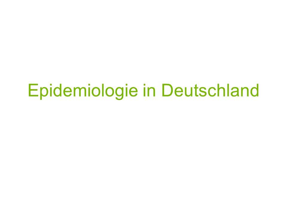 Epidemiologie in Deutschland