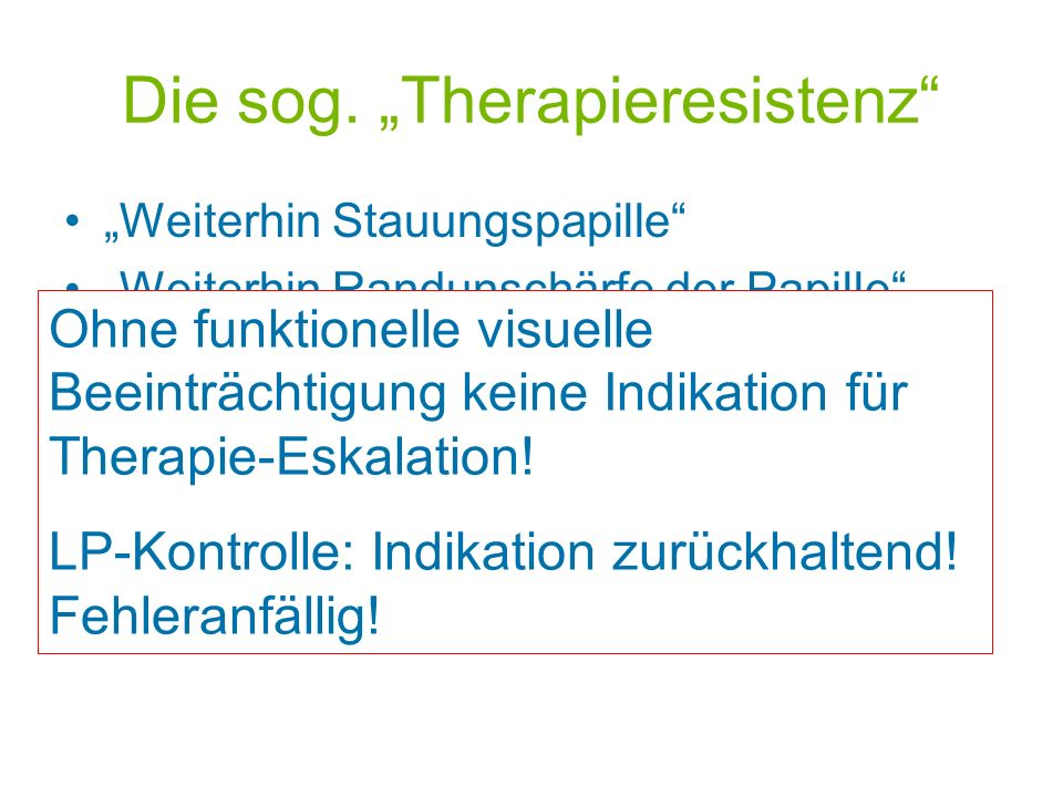 """Die sog. """"Therapieresistenz"""