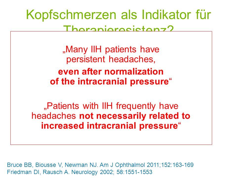 Kopfschmerzen als Indikator für Therapieresistenz