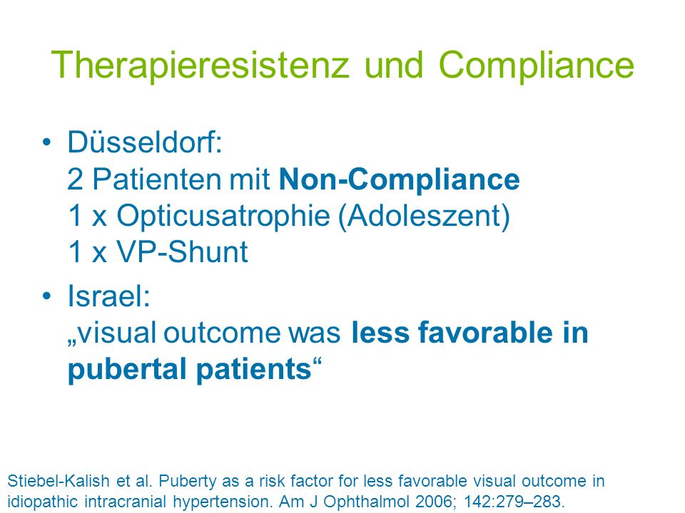 Therapieresistenz und Compliance