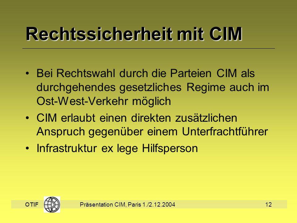 Rechtssicherheit mit CIM