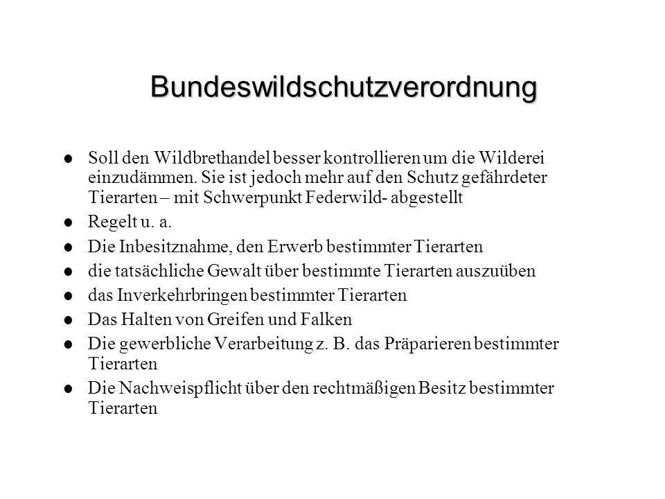 Bundeswildschutzverordnung
