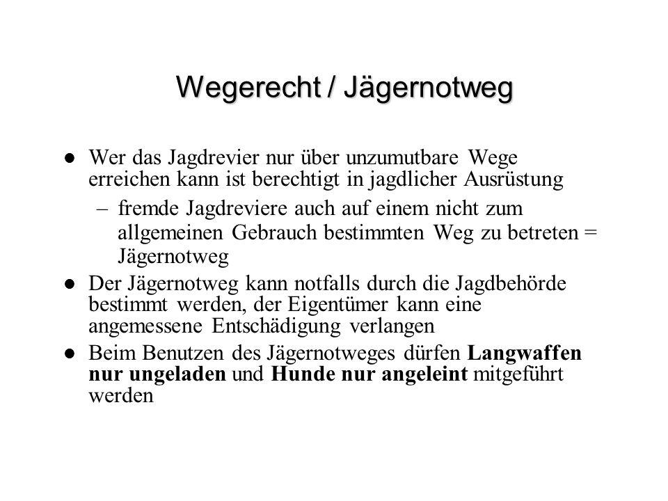 Wegerecht / Jägernotweg