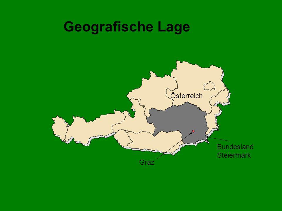Geografische Lage Österreich Bundesland Steiermark Graz
