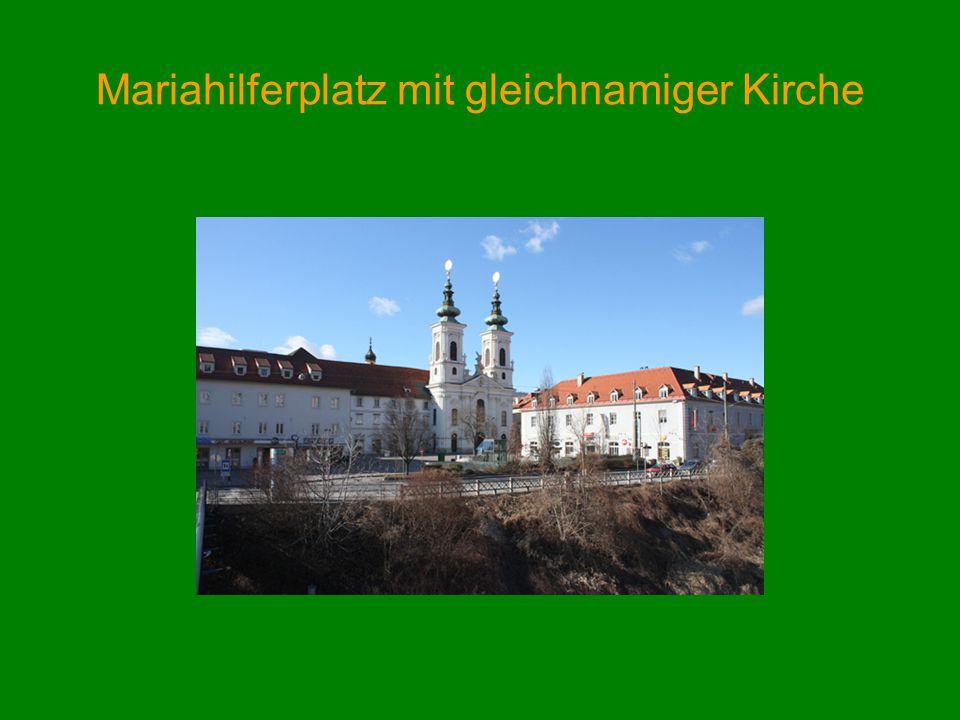 Mariahilferplatz mit gleichnamiger Kirche