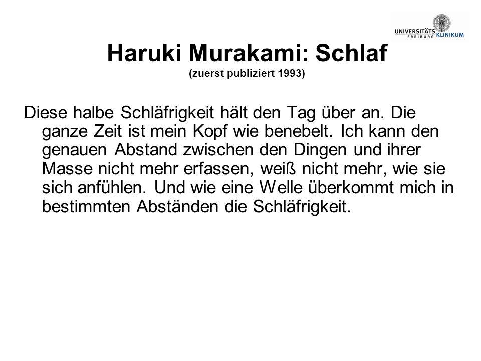 Haruki Murakami: Schlaf (zuerst publiziert 1993)
