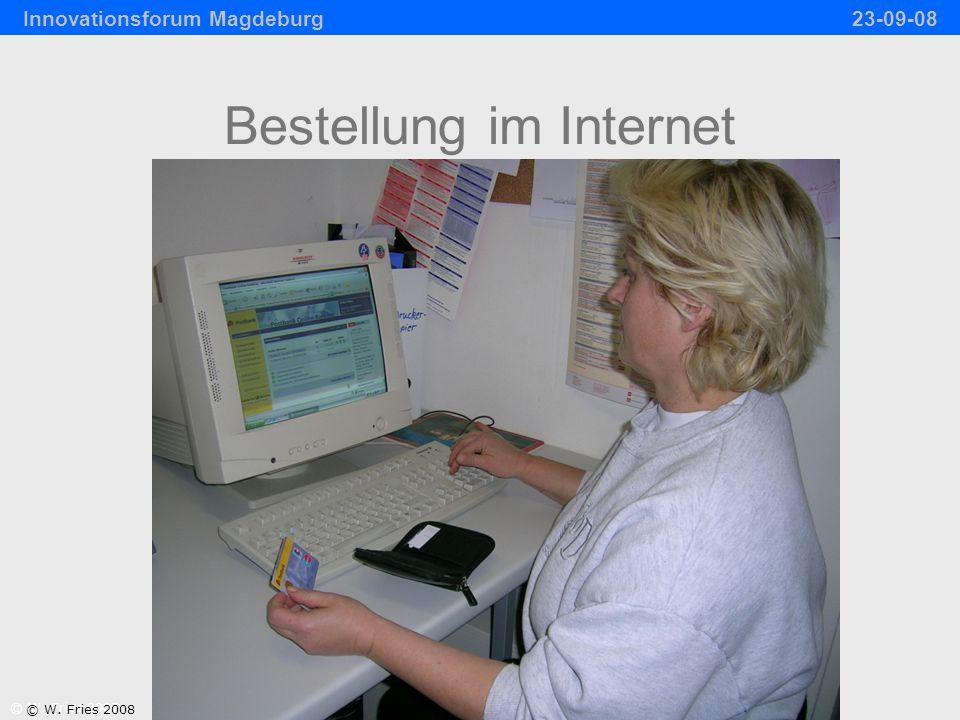 Bestellung im Internet