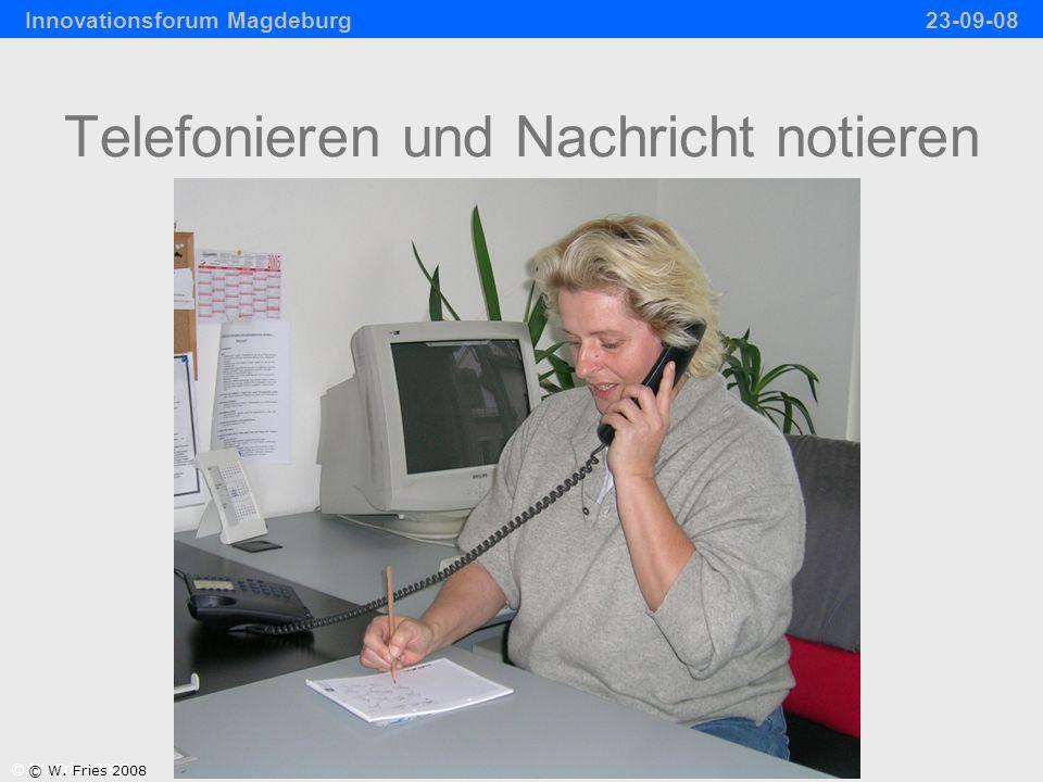 Telefonieren und Nachricht notieren