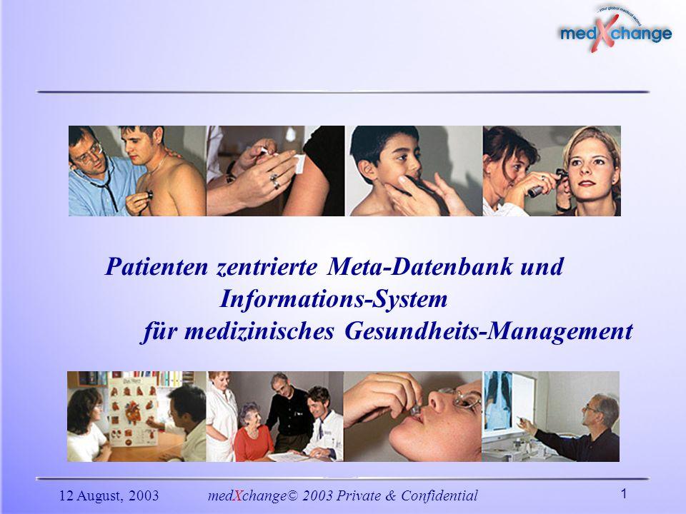 Patienten zentrierte Meta-Datenbank und Informations-System