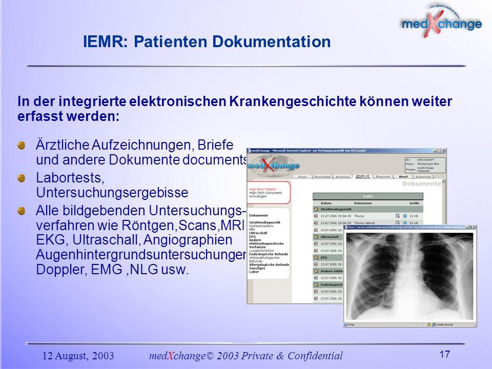 IEMR: Patienten Dokumentation