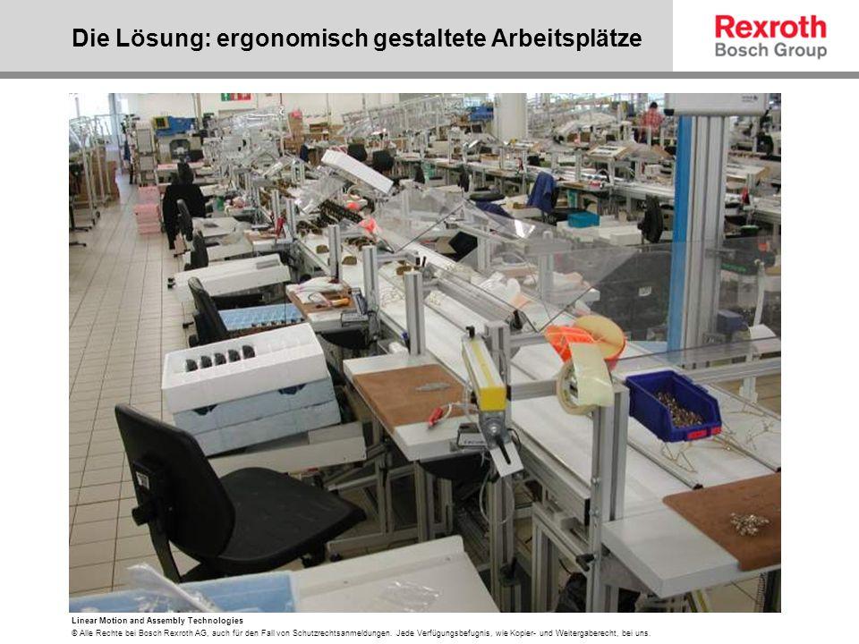 Die Lösung: ergonomisch gestaltete Arbeitsplätze