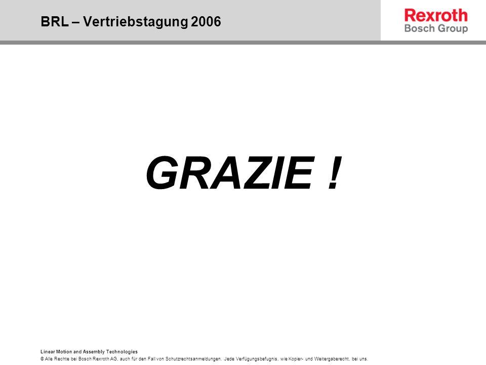 GRAZIE ! BRL – Vertriebstagung 2006