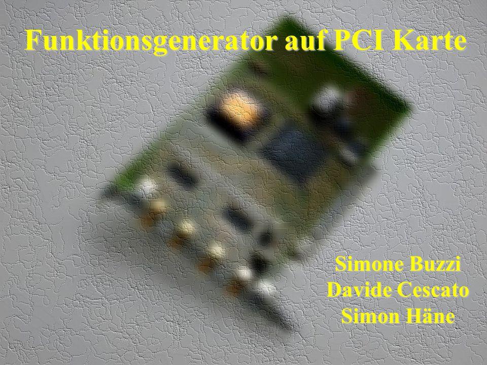 Funktionsgenerator auf PCI Karte
