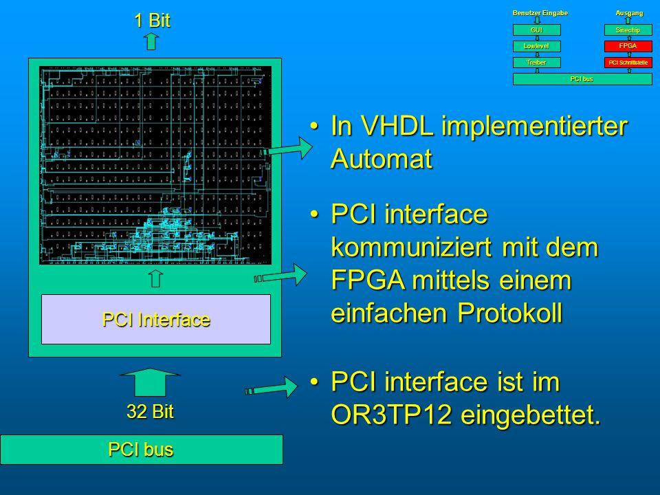PCI interface ist im OR3TP12 eingebettet.