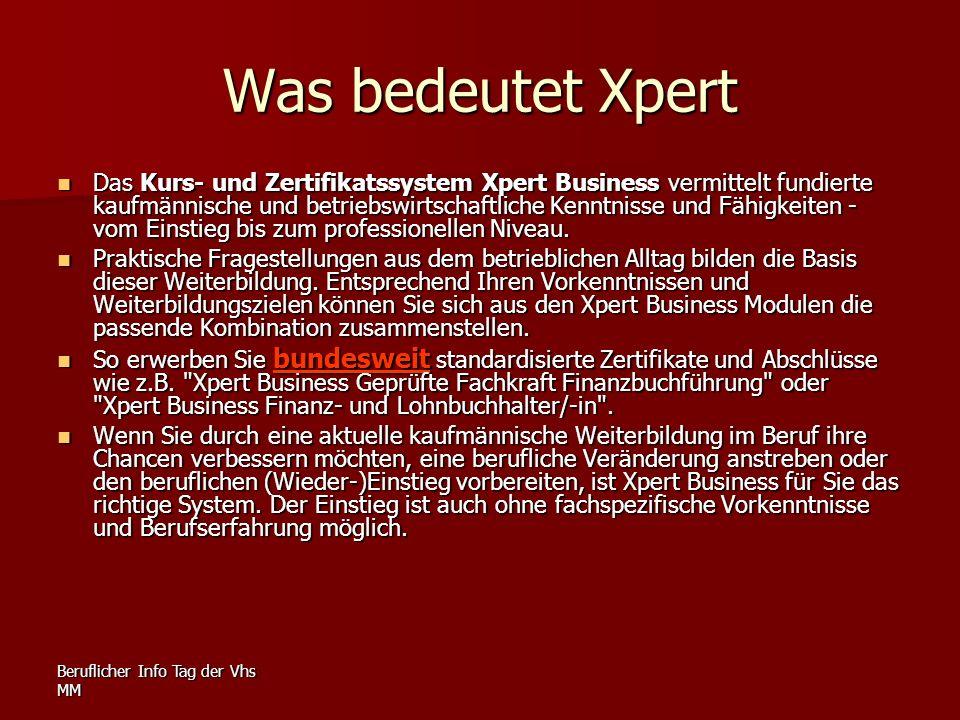 Was bedeutet Xpert