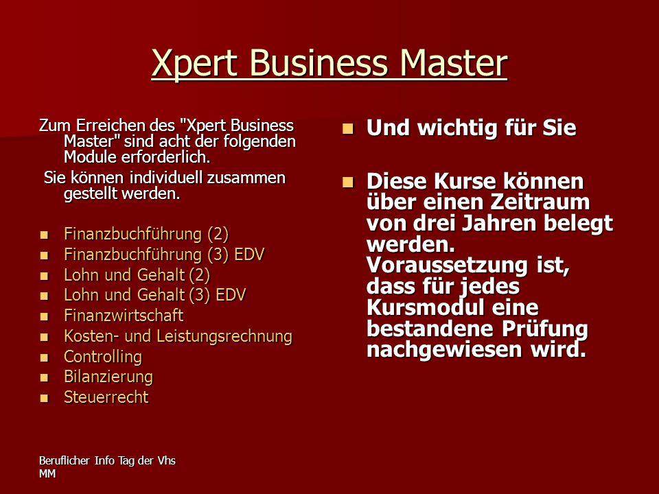 Xpert Business Master Und wichtig für Sie