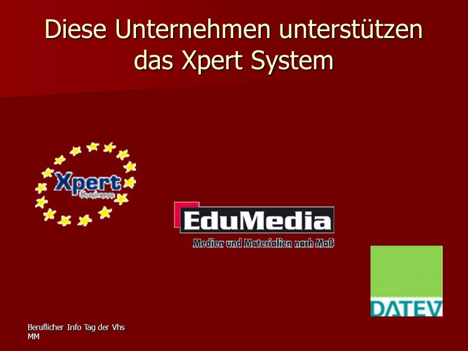 Diese Unternehmen unterstützen das Xpert System