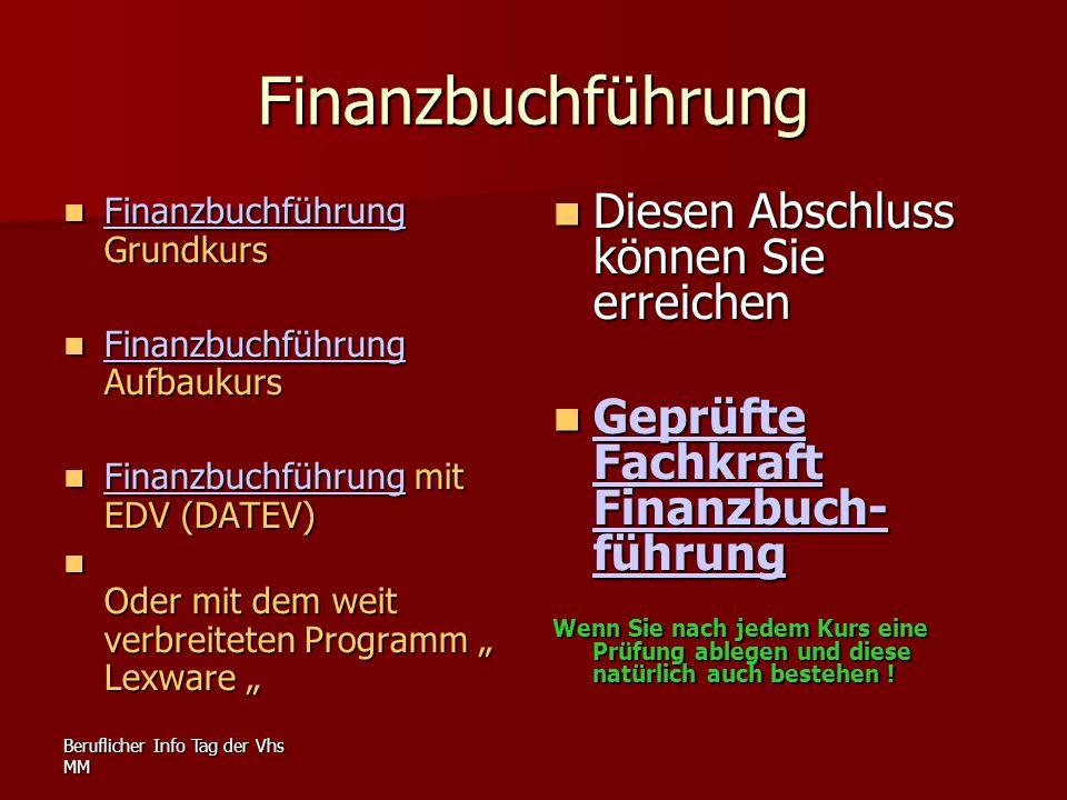 Finanzbuchführung Diesen Abschluss können Sie erreichen