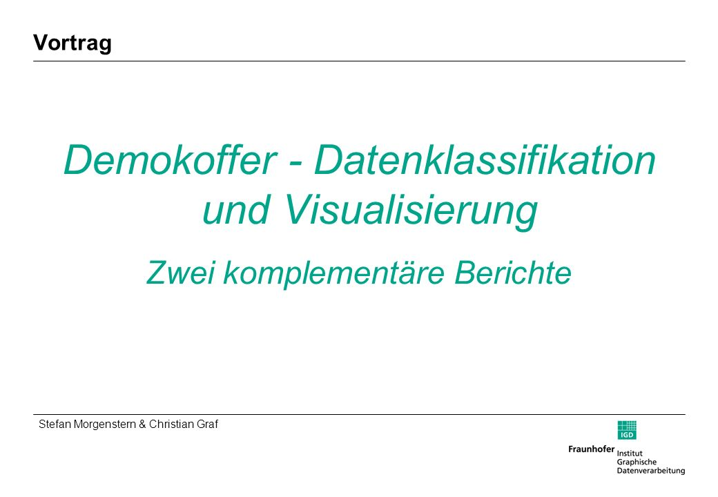 Demokoffer - Datenklassifikation und Visualisierung