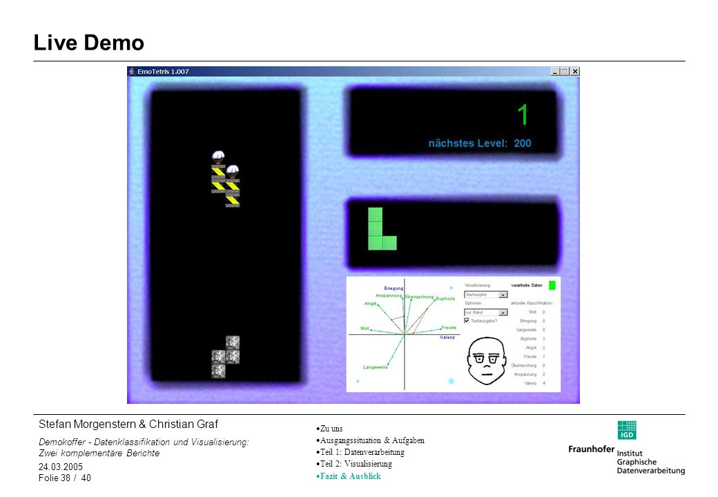 Live DemoZu uns. Ausgangssituation & Aufgaben. Teil 1: Datenverarbeitung. Teil 2: Visualisierung. Fazit & Ausblick.