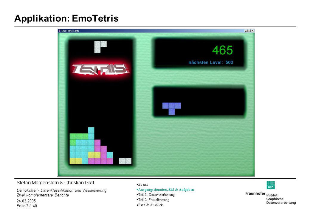 Applikation: EmoTetris