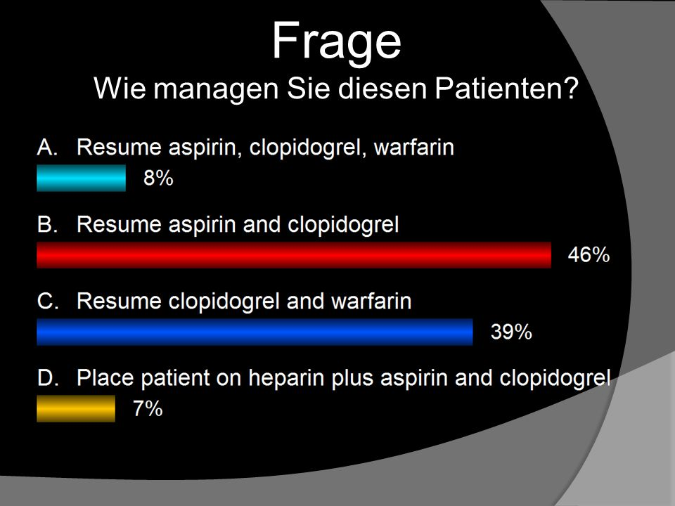 Frage Wie managen Sie diesen Patienten