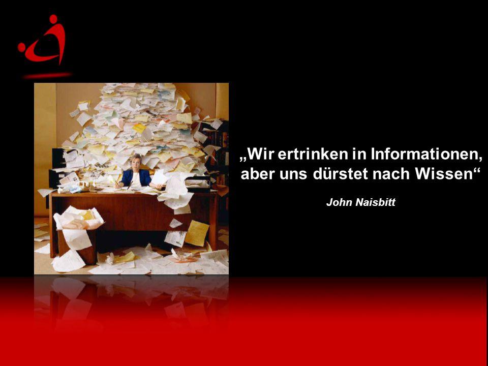 """""""Wir ertrinken in Informationen, aber uns dürstet nach Wissen"""
