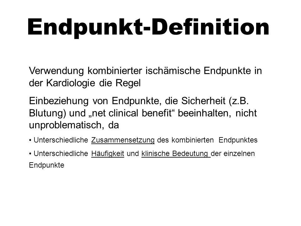 Endpunkt-Definition Verwendung kombinierter ischämische Endpunkte in der Kardiologie die Regel.