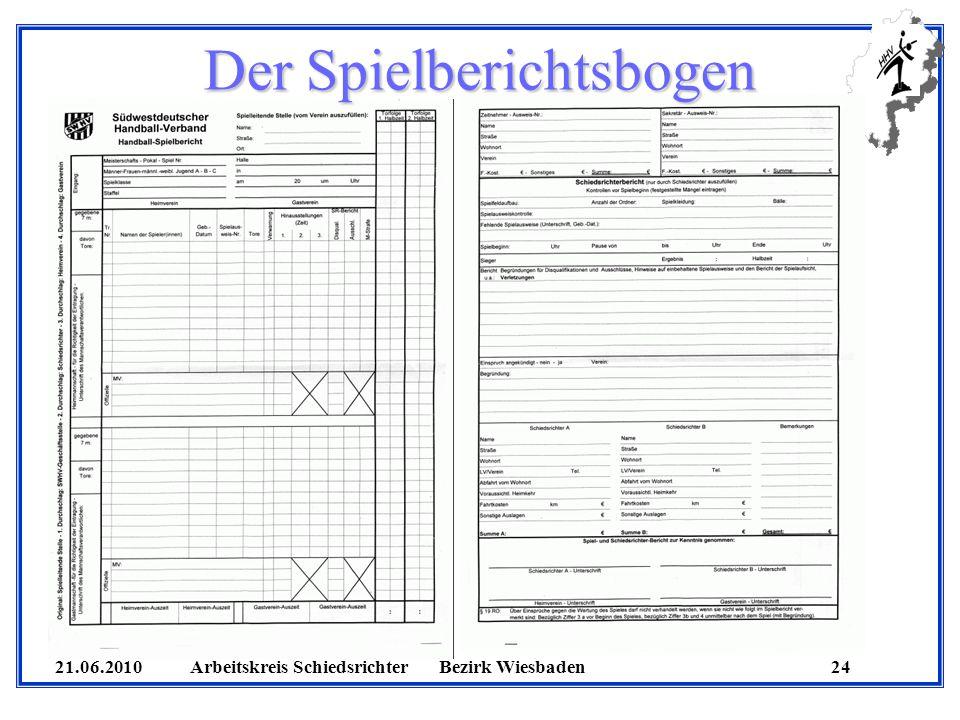 Der Spielberichtsbogen