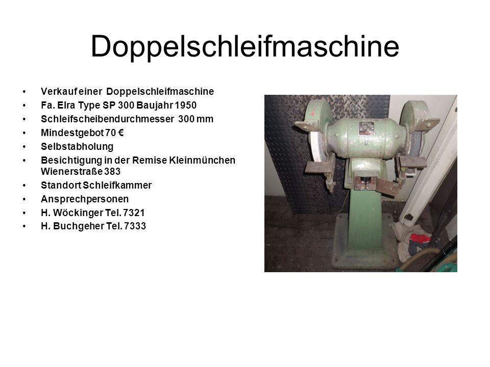 Doppelschleifmaschine