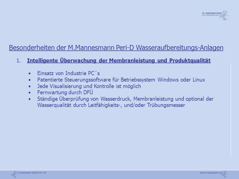 Besonderheiten der M.Mannesmann Peri-D Wasseraufbereitungs-Anlagen