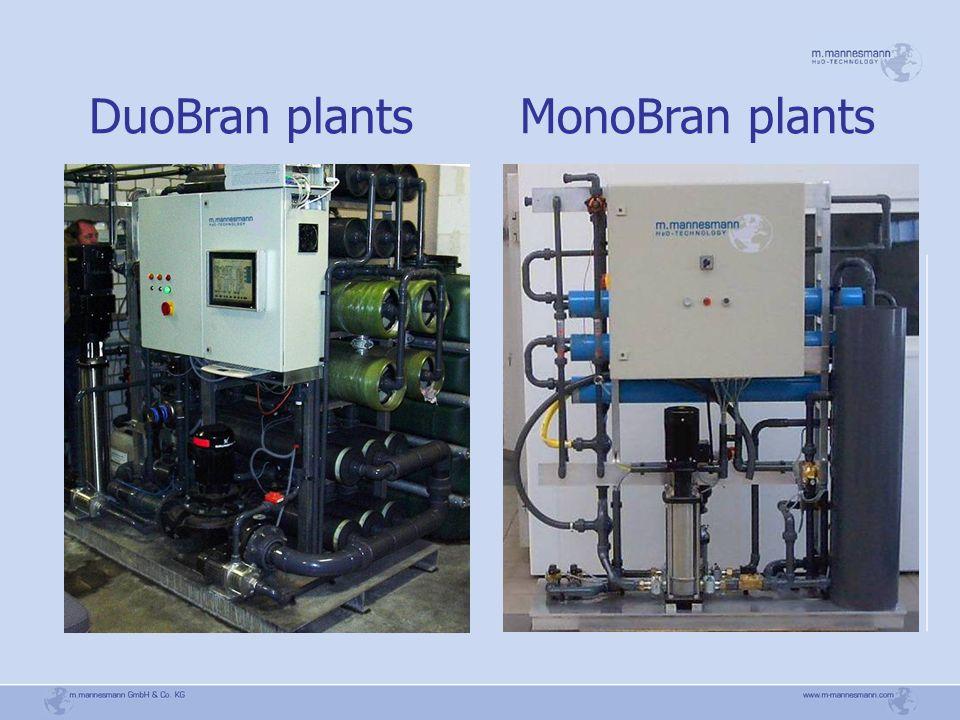 DuoBran plants MonoBran plants