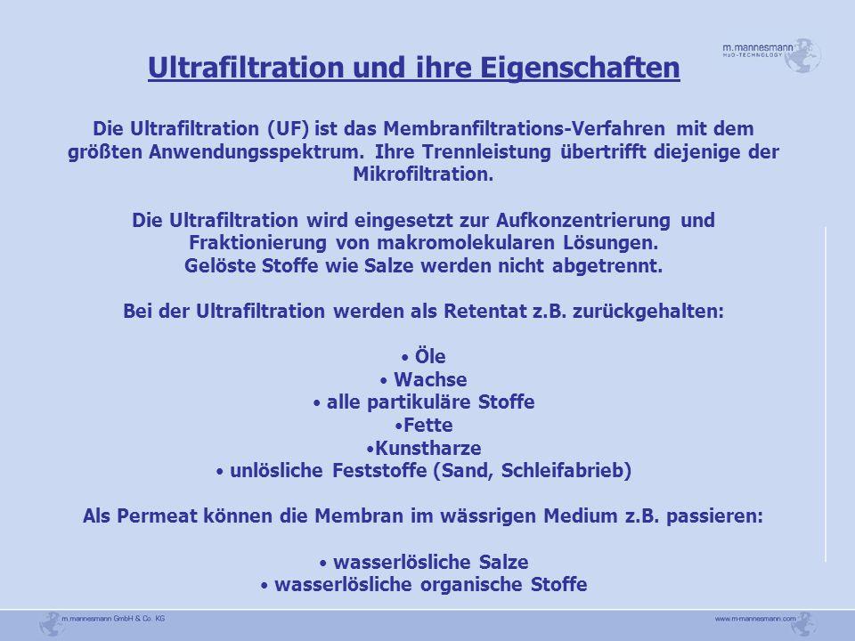 Ultrafiltration und ihre Eigenschaften