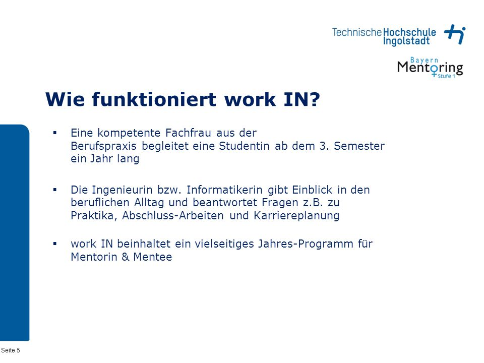 Wie funktioniert work IN