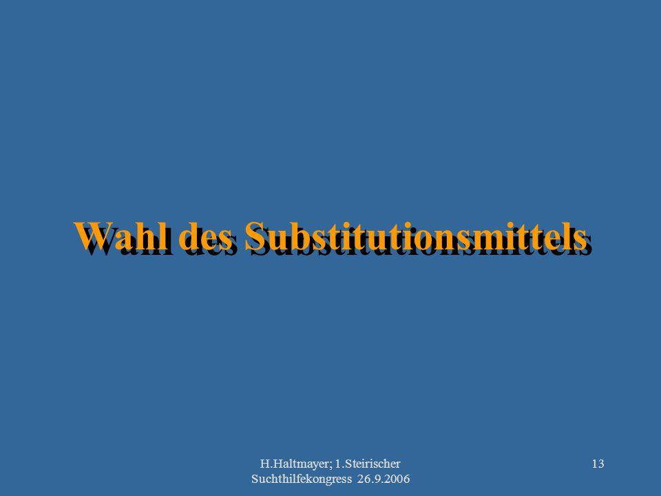 Wahl des Substitutionsmittels
